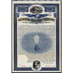 General Electric Co. Specimen Bond, Very Early Issue.