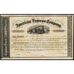 American Express Co. Type II Stock with Wells and Fargo Autographs.