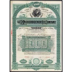 "The Knickerbocker Ice Co. ""Rockland Lake Ice "" Specimen Bond."