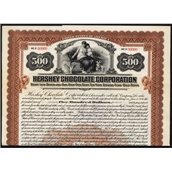 Hershey Chocolate Corp. Specimen Bond.