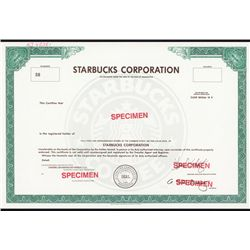Starbucks Corporation Possible IPO Specimen Stock Certificate.