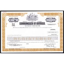 Commonwealth of Australia Specimen Bond.