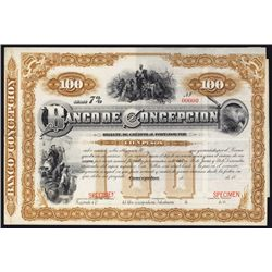 Banco de Concepcion Specimen Bond.
