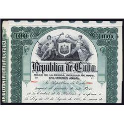 Republica De Cuba, Specimen Bond.