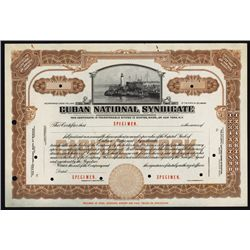 Cuban National Syndicate Specimen Stock.