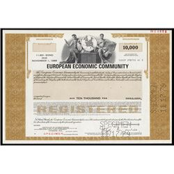 European Economic Community Specimen Bond.