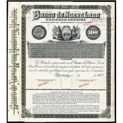 Banco de Nueva Leon, S.A. Bond.