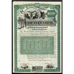 Mexican Central Railway, Limited Specimen Bond.
