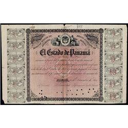El Estado De Panama, Specimen 1861 Issue Bond.