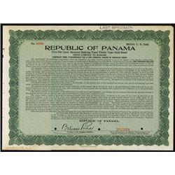 Republic of Panama, Specimen Bond.