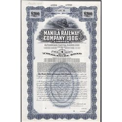 Manila Railway Company (1906) Specimen Bond.