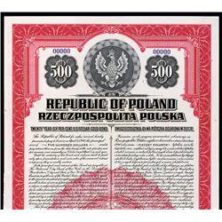 Republic of Poland -Dollar Gold Bond.