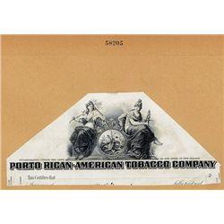 Porto Rican-American Tobacco Company Proof Stock Certificate Vignette.