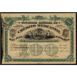 Sociedad Anonima de Credito Mercantil Bond.