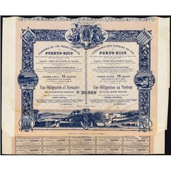 Compania de Los Ferro-Carriles de Puerto Rico Bond - Share Certificate.