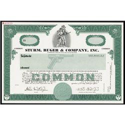 Sturm, Ruger & Co., Inc. Specimen Stock Certificate.