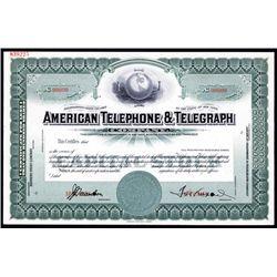 American Telephone & Telegraph Specimen Stock.