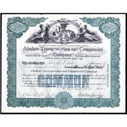 Alaskan Transportation and Commercial Co. Stock Certificate.