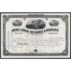 Hite Gold Quartz Co. Stock Certificate.