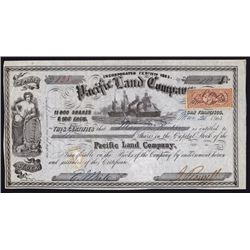 Pacific Land Co. Stock Certificate.
