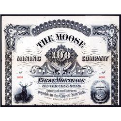 Moose Mining Co. Specimen Bond.