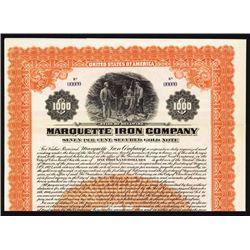 Marquette Iron Co. Michigan Iron Mining Specimen Bond.