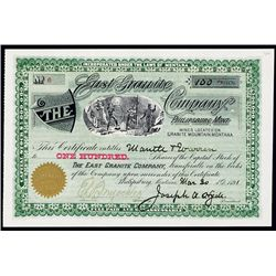 East Granite Co. Stock Certificate