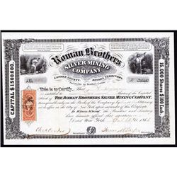 Roman Brothers Silver Mining Co. Stock Certificate.
