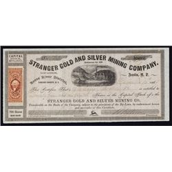 Stranger Gold and Silver Mining Co. Stock Certificate.