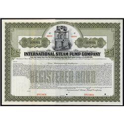 International Steam Pump Co. Specimen Bond.