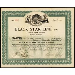 Black Star Line Stock With Marcus Garvey Signature.