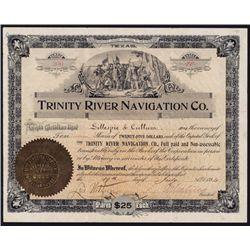 Trinity River Navigation Co., Stock Certificate.