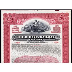 Bolivia Railway Co. Specimen Bond.