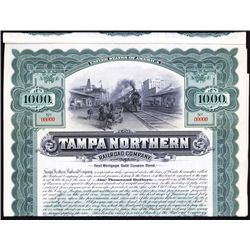 Tampa Northern Railroad Co. Specimen Bond.