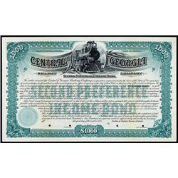 Central Railway of Georgia Co. Specimen Bond.