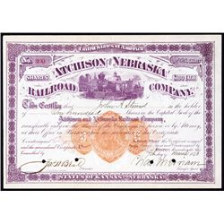 Atchison and Nebraska Railroad Company with Imprinted Revenue RN-U1.