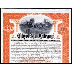 City of New Orleans - Public Belt Railroad Bond of the City of New Orleans.
