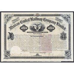 Mexican Central Railway Co., Ltd. Bond.