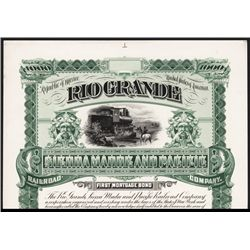Rio Grande Sierra Madre and Pacific Railroad Co., Proof Bond.