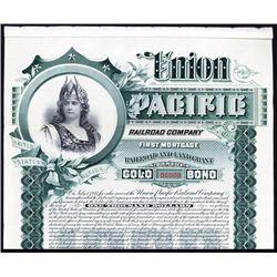 Union Pacific Railroad Co. Specimen Bond.