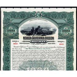 Nevada-California-Oregon Railway Specimen Bond.