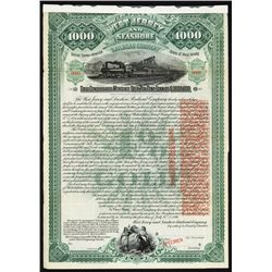 West Jersey & Sea Shore Railroad Co. Specimen Bond.