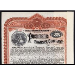 Pneumatic Transit Co. Issued Bond.