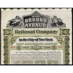Second Avenue Railroad Company Bond.
