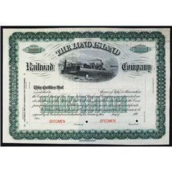Long Island Railroad Company Specimen Stock Certificate.