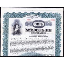 Panama Power & Light Co. Specimen Bond.