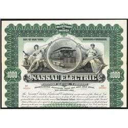 Nassau Electric Railroad Co. Specimen Bond.