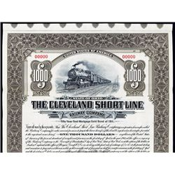 Cleveland Short Line Railway Specimen Bond.