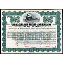 Cleveland Short Line Railway Co. Specimen Bond.