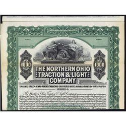 Northern Ohio Traction & Light Co. Specimen Bond.
